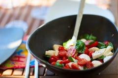 Tomato and mozzarella salad Stock Image