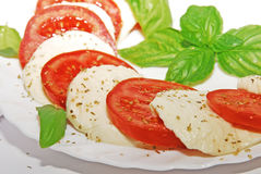 Tomato and mozzarella salad Stock Photos