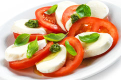 Tomato and mozzarella salad Royalty Free Stock Photos