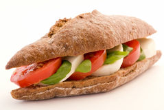 Tomato Mozzarella Sandwich Stock Photography