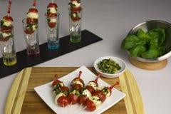 Tomato mozzarella skewer Stock Images