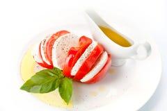 Tomato and mozzarella slices Stock Photography