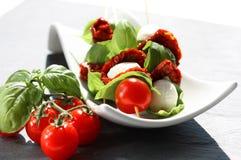 Tomato mozzarella sticks Stock Photo