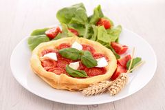 Tomato and mozzarella tart Stock Photo