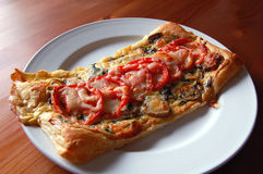 Tomato and mushroom tart Stock Photography