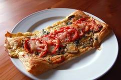 Tomato and mushroom tart Stock Photography