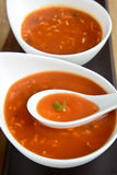 Tomato Noodle Soup Royalty Free Stock Photo