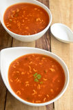 Tomato Noodle Soup Royalty Free Stock Images