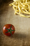 Tomato and noodles Stock Image