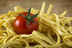 Tomato and noodles Stock Photography