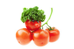 Tomato with a nose Stock Images