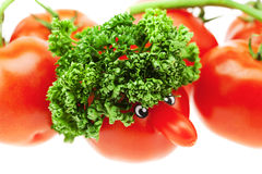 Tomato with a nose Royalty Free Stock Photo