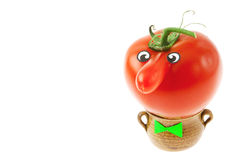 Tomato with a nose Stock Image