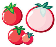 Tomato Note. Tomato illustration and Cute soft red note paper with tomato background Royalty Free Stock Image