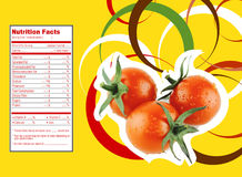 Tomato nutrition facts Stock Photo