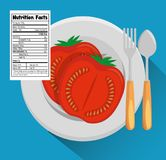 Tomato with nutrition facts. Vector illustration design Royalty Free Stock Photo