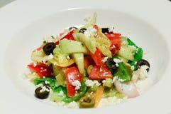 Tomato olive capsicum feta salad Stock Photos