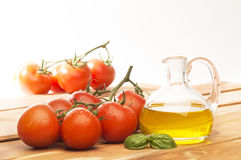 Tomato and olive oil Royalty Free Stock Photos