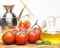 Tomato and olive oil Stock Photo
