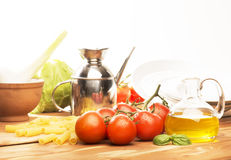 Tomato and olive oil Royalty Free Stock Photo