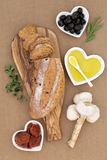 Tomato and Olive Rustic Bread Stock Photo