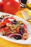 Tomato and olive salad Stock Photo