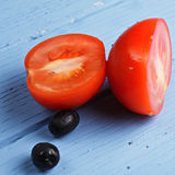 Tomato and olives Royalty Free Stock Images