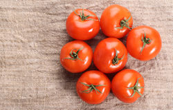 Tomato On A Old Textile Royalty Free Stock Images