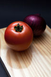 Tomato and onion Royalty Free Stock Photo