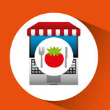 Tomato online shopping app Royalty Free Stock Images
