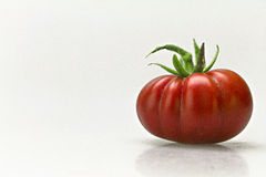 Tomato. Organic red tomato on a white background Stock Images