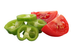 Tomato and paprika Royalty Free Stock Images