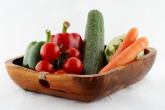 Tomato, paprika, cucumber Royalty Free Stock Image