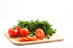 Tomato with parsely Stock Image