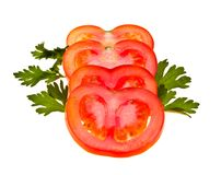 Tomato and Parsley Royalty Free Stock Photos