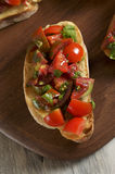 Tomato and parsley bruschetta Royalty Free Stock Images