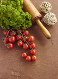Tomato parsley food vegetable vegetarian cooking Royalty Free Stock Photo