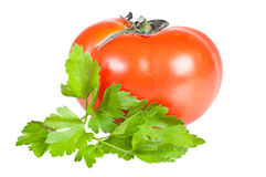 Tomato and parsley leaves Royalty Free Stock Photo