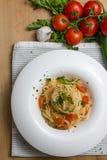 Tomato pasta Stock Photo