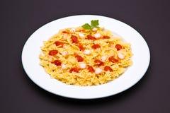 Tomato pasta dish Stock Images