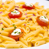 Tomato pasta dish Royalty Free Stock Images