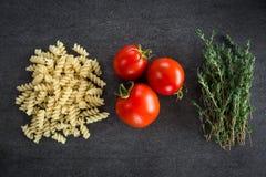 Tomato Pasta Herbs Royalty Free Stock Image