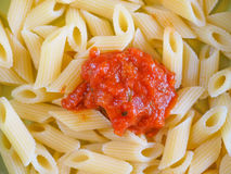 Tomato pasta Stock Photography