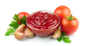 Tomato paste with spices Royalty Free Stock Photography