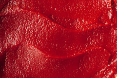 Tomato paste texture close-up Stock Photo