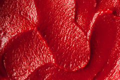 Tomato paste texture close-up Stock Photography
