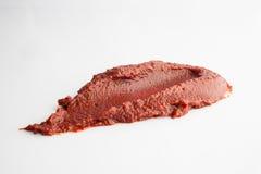 Tomato paste on white Stock Images