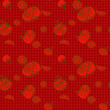 Tomato pattern drawing style Royalty Free Stock Image