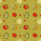 Tomato pattern drawing style stock images