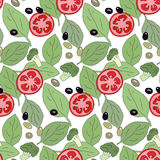 Tomato pattern Stock Photo